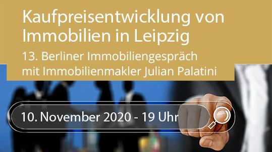 Kaufpreisentwicklung 2020 - Julien Palatini im 13. Berliner Immobiliengespräch