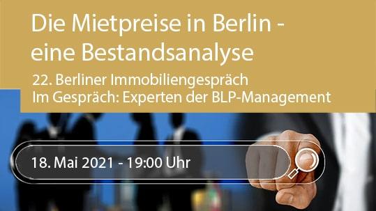 22. Berliner Immobiliengespräch mit Experten
